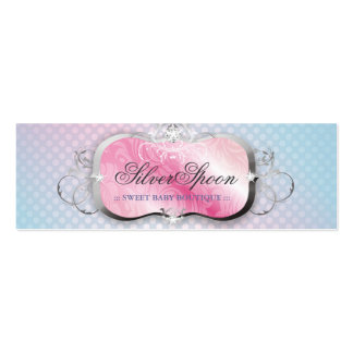 311-Silver Spoon | Baby Boutique Pack Of Skinny Business Cards