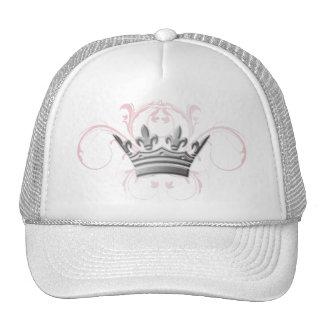 311-Silver Tiara Pink Swirls Cap