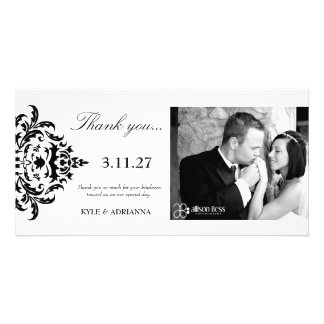 311-Simplisticly Elegant Damask Thank You Card