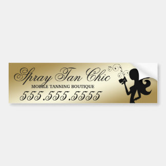 311 Spray Tan Fashionista Bumper Sticker