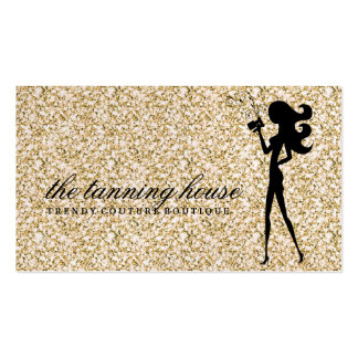 311 Spray Tan Fashionista Silhouette Gold Sparkle Pack Of Standard Business Cards