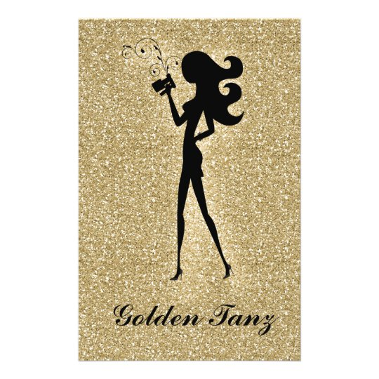 311 Spray Tan Flyer Gold Faux Sparkle