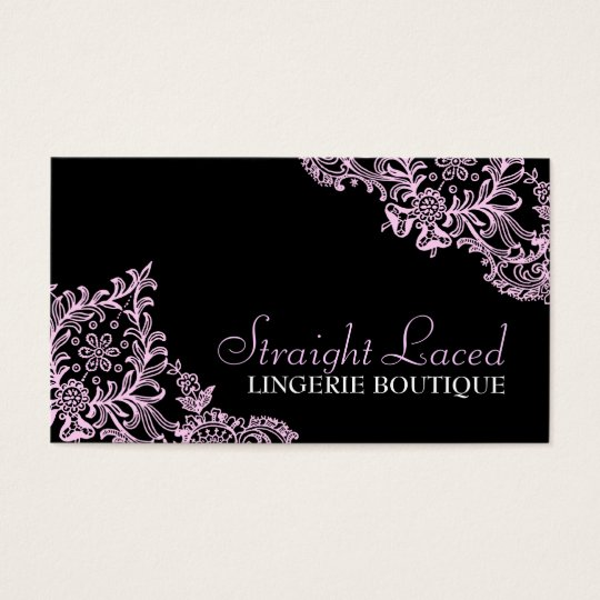 311 Straight Laced Pink Black Business Card