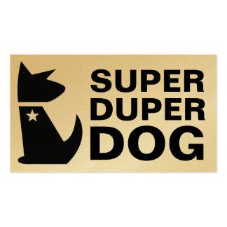 311-Super Duper Dog | Gold Card Pack Of Standard Business Cards