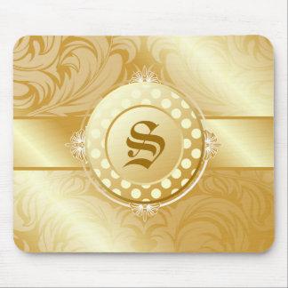311-Superfine Golden Sugar Monogram Mouse Mat