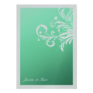 311-Swanky Swirls Mint Delight Metallic (optional) 13 Cm X 18 Cm Invitation Card