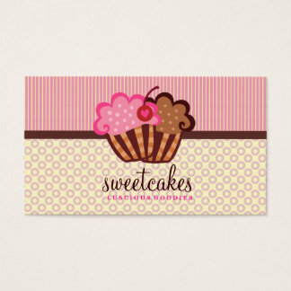 311 Sweet Cakes Cupcake Dots n Stripes Business Card