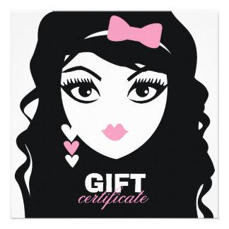 311 Sweet Heart Luscious Pink Gift Certificate Custom Invitations