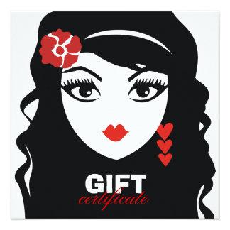 311 Sweet Heart Senorita Gift Certificate 13 Cm X 13 Cm Square Invitation Card