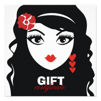 311 Sweet Heart Senorita Gift Certificate Custom Invitations