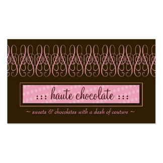 311-SWIRLY SWEET CHOCOLATE PACK OF STANDARD BUSINESS CARDS