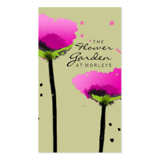 311 THE FLOWER GARDEN EXCLUSIVE SAGE GREEN Double-Sided STANDARD BUSINESS CARDS (Pack OF 100)