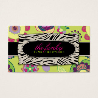 311 The Funky Jungle | Lime Flowers Business Card
