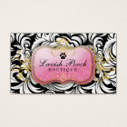 311-The Lavish Pooch | White Leaves Business Card