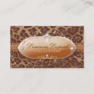 Leopard print business cards business card printing zazzle uk 311 the luminous leopard business card colourmoves