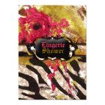 311-Tigress / Zebra Rose Lingerie 13 Cm X 18 Cm Invitation Card