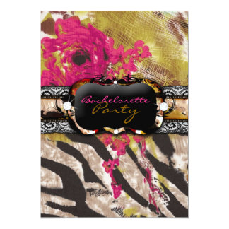 311 Tigress Zebra Rose Pink Card