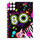 311 Totally the 80s Party - Red Guitar Card
