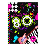 311 Totally the 80s Party - Red Guitar Personalised Invite