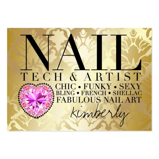 Collections of bold nail technician business cards 311 tres chic damask nail tech diamond heart business card templates reheart Gallery