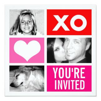 311-Triple Square Valentine Invitation