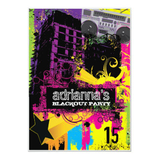 311 Urban Setting Blackout Party Card