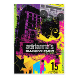 311 Urban Setting Blackout Party Personalized Invites
