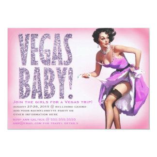 311 Vegas Baby Pinup Girl Sparkle 13 Cm X 18 Cm Invitation Card
