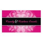 311 Vincelette Damask Hot Pink Liquorice Pack Of Standard Business Cards