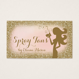 311 Vintage Glam Spray Tan Fashionista Glitter Business Card