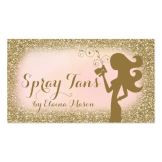 311 Vintage Glam Spray Tan Fashionista Glitter Pack Of Standard Business Cards