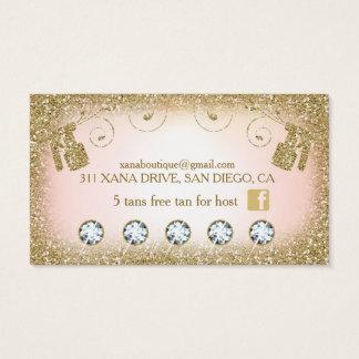 311 Vintage Glam Spray Tan Glitter B Card Loyalty