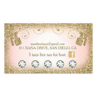311 Vintage Glam Spray Tan Glitter B Card Loyalty Pack Of Standard Business Cards
