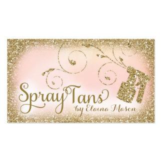 311 Vintage Glam Spray Tan Gold Glitter Pink Pack Of Standard Business Cards