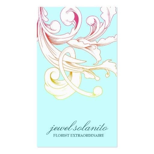 311-Vivid Foliage Flare Business Card