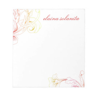 311 Vivid Foliage Flare White Notepad