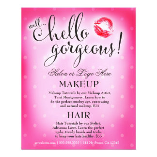 311 Well Hello Gorgeous Pink Lip Beauty Flyer