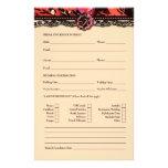 311 Wild Lily Bridal Information Card 14 Cm X 21.5 Cm Flyer