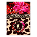 311 Wild Lily Leopard & Lace Pink Business Cards