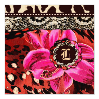 311 Wild Lily Pink Leopard Gift Certificate Card
