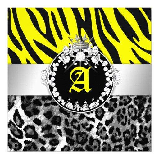 311 Zebra-LeoTique Diamonds Kisses Sweet 16 Neon Y Announcements