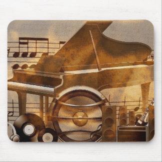 313583 DIGITAL MUSICAL GOLDEN COLLAGE GUITAR PIANO MOUSEPADS
