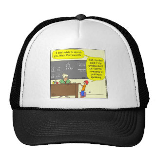 313 someone is getting a spanking Cartoon Mesh Hat