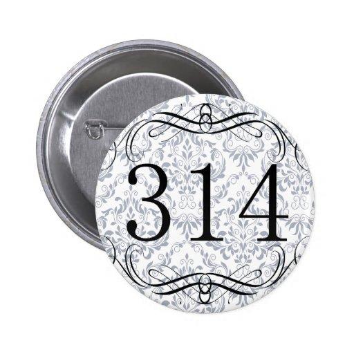 314 Area Code 6 Cm Round Badge
