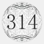 314 Area Code Classic Round Sticker