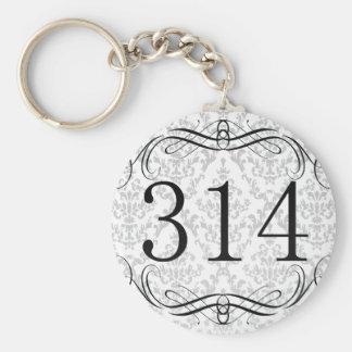 314 Area Code Key Chain