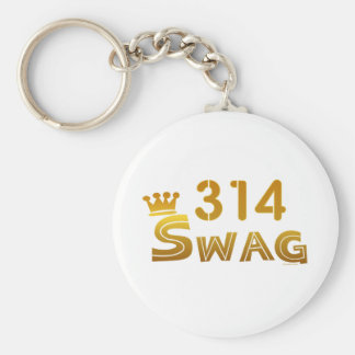 314 Missouri Swag Basic Round Button Key Ring