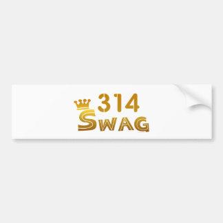 314 Missouri Swag Car Bumper Sticker
