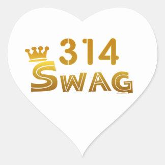 314 Missouri Swag Heart Sticker