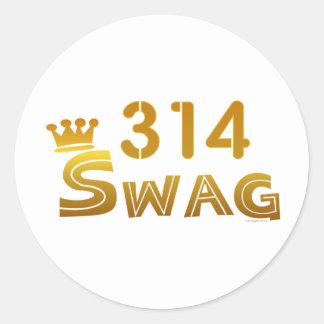 314 Missouri Swag Round Sticker